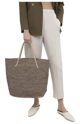 Женская сумка beby large SANS-ARCIDET темно-бежевого цвета, арт. BEBY BAG MA-C S21/L   Фото 2