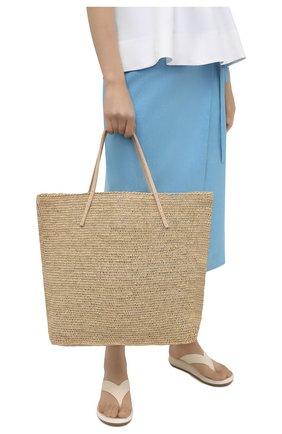 Женская сумка beby large SANS-ARCIDET бежевого цвета, арт. BEBY BAG MA-C S21/L   Фото 2