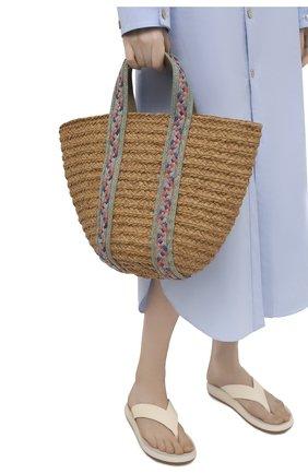 Женская сумка bondi medium SANS-ARCIDET бежевого цвета, арт. B0NDI BAG S21/M   Фото 2