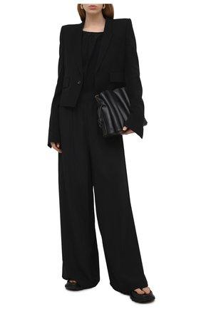 Женский жакет из шерсти и вискозы RICK OWENS черного цвета, арт. RP21S3755/WE   Фото 2