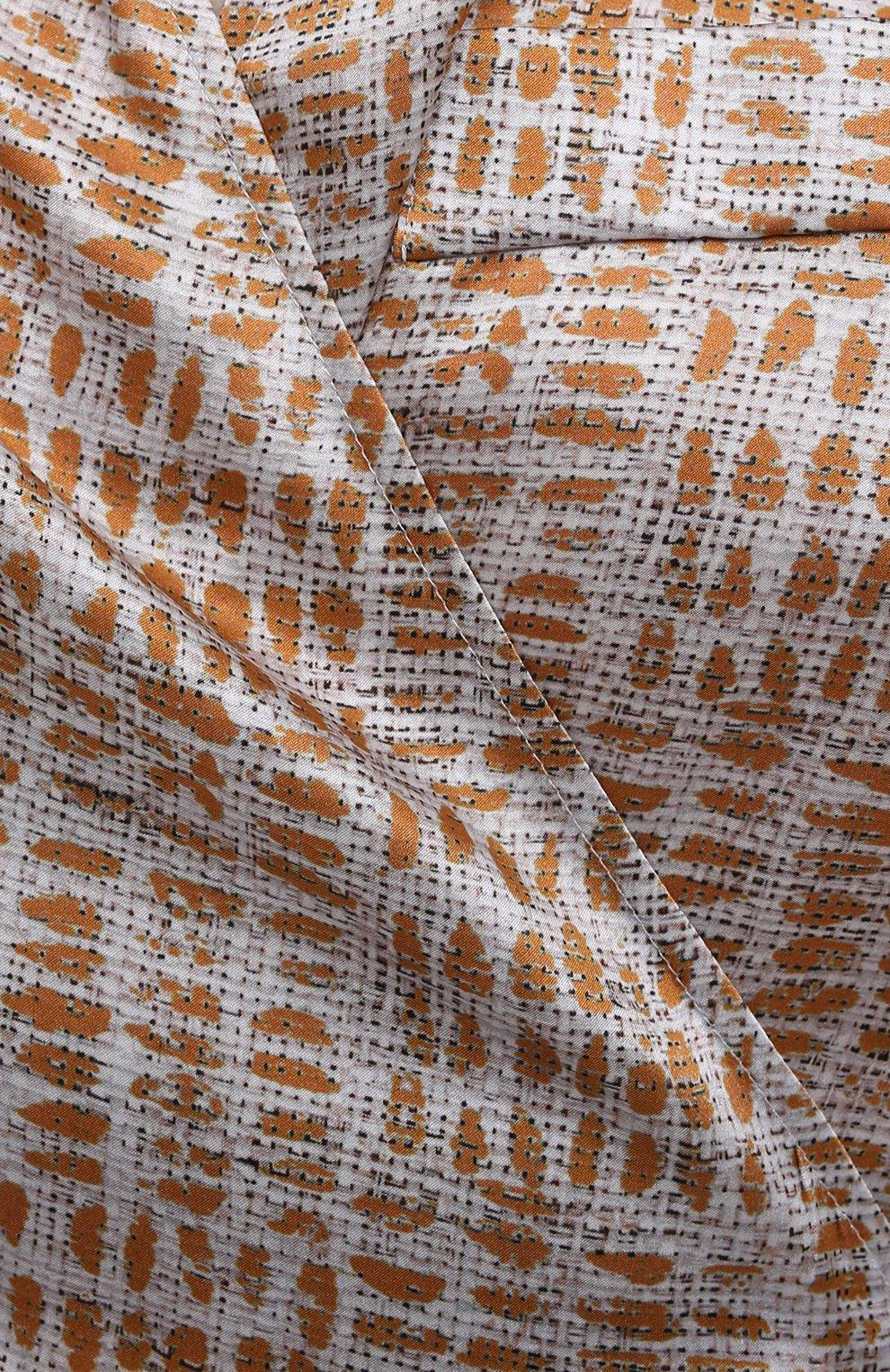 Женское шелковое платье KITON бежевого цвета, арт. D51362K09T89 | Фото 5