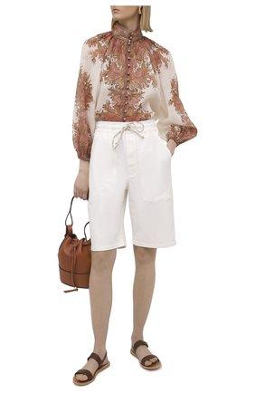 Женская блузка ZIMMERMANN бежевого цвета, арт. 9662TBRG | Фото 2
