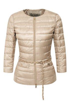 Женская пуховая куртка HERNO бежевого цвета, арт. PI0004DIC/12017 | Фото 1