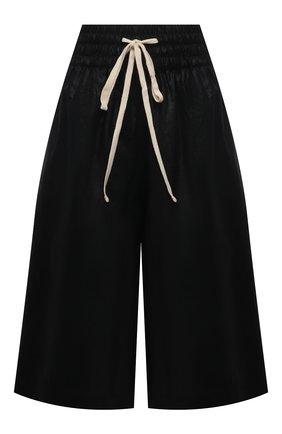 Женские льняные шорты TELA черного цвета, арт. 01 0167 27 0163 | Фото 1