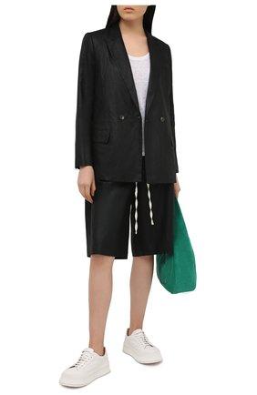 Женские льняные шорты TELA черного цвета, арт. 01 0167 27 0163 | Фото 2