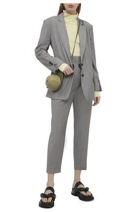 Женские шерстяные брюки TELA серого цвета, арт. 01 0159 14 8023 | Фото 2