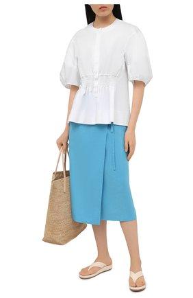 Женская льняная юбка TELA голубого цвета, арт. 01 0167 11 5266 | Фото 2