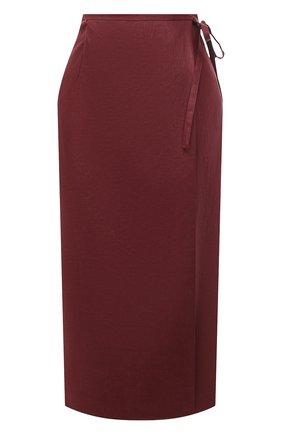 Женская льняная юбка TELA бордового цвета, арт. 01 0167 11 5266 | Фото 1