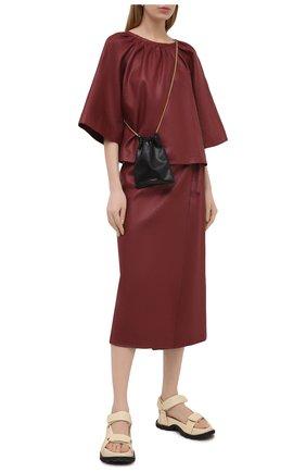 Женская льняная юбка TELA бордового цвета, арт. 01 0167 11 5266 | Фото 2