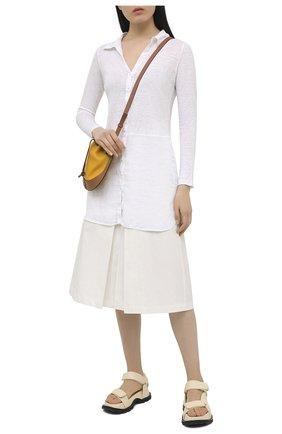 Женская хлопковая юбка TELA белого цвета, арт. 01 0157 11 0002 | Фото 2