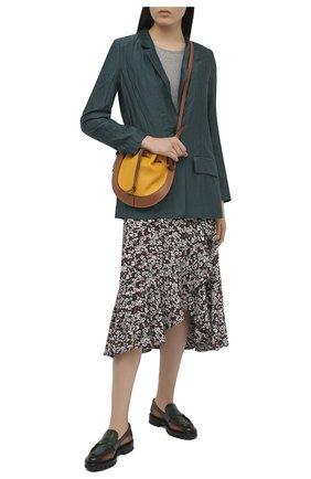 Женский жакет из вискозы и шелка TELA бирюзового цвета, арт. 01 0166 06 4674 | Фото 2