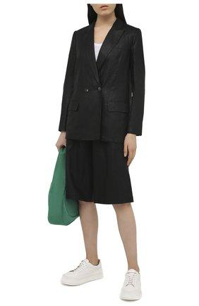 Женский льняной жакет TELA черного цвета, арт. 01 0167 06 0004 | Фото 2