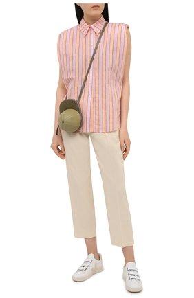 Женская хлопковая рубашка TELA оранжевого цвета, арт. 01 0149 02 0007 | Фото 2