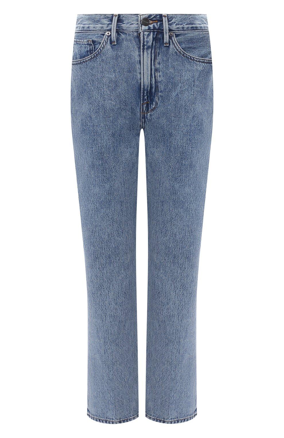 Женские джинсы FRAME DENIM голубого цвета, арт. LPR207 | Фото 1 (Кросс-КТ: Деним; Длина (брюки, джинсы): Стандартные; Материал внешний: Хлопок; Детали: Потертости; Силуэт Ж (брюки и джинсы): Узкие; Стили: Кэжуэл)
