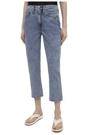 Женские джинсы FRAME DENIM голубого цвета, арт. LPR207 | Фото 3 (Кросс-КТ: Деним; Длина (брюки, джинсы): Стандартные; Материал внешний: Хлопок; Детали: Потертости; Силуэт Ж (брюки и джинсы): Узкие; Стили: Кэжуэл)