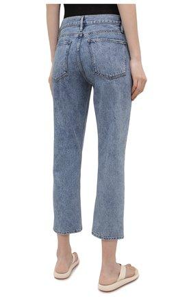 Женские джинсы FRAME DENIM голубого цвета, арт. LPR207 | Фото 4 (Кросс-КТ: Деним; Длина (брюки, джинсы): Стандартные; Материал внешний: Хлопок; Детали: Потертости; Силуэт Ж (брюки и джинсы): Узкие; Стили: Кэжуэл)