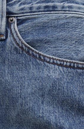 Женские джинсы FRAME DENIM голубого цвета, арт. LPR207 | Фото 5 (Кросс-КТ: Деним; Длина (брюки, джинсы): Стандартные; Материал внешний: Хлопок; Детали: Потертости; Силуэт Ж (брюки и джинсы): Узкие; Стили: Кэжуэл)
