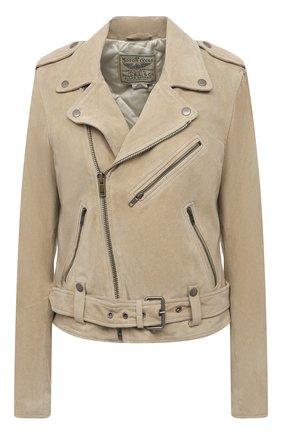 Женская замшевая куртка POLO RALPH LAUREN бежевого цвета, арт. 211827572 | Фото 1