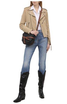 Женская замшевая куртка POLO RALPH LAUREN бежевого цвета, арт. 211827572 | Фото 2