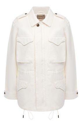 Женская джинсовая куртка POLO RALPH LAUREN светло-бежевого цвета, арт. 211827569 | Фото 1