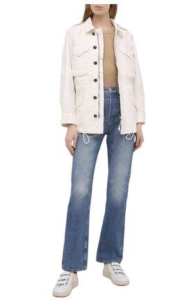 Женская джинсовая куртка POLO RALPH LAUREN светло-бежевого цвета, арт. 211827569 | Фото 2
