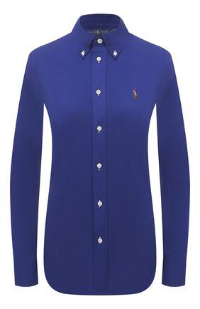 Женская хлопковая рубашка POLO RALPH LAUREN синего цвета, арт. 211664427 | Фото 1