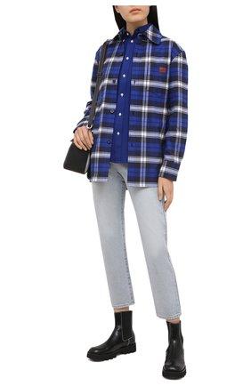 Женская хлопковая рубашка POLO RALPH LAUREN синего цвета, арт. 211664427 | Фото 2