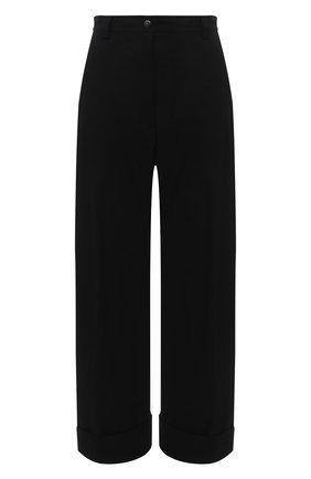 Женские брюки из хлопка и вискозы DRIES VAN NOTEN черного цвета, арт. 211-10903-2109 | Фото 1