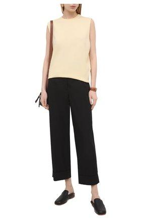 Женские брюки из хлопка и вискозы DRIES VAN NOTEN черного цвета, арт. 211-10903-2109 | Фото 2
