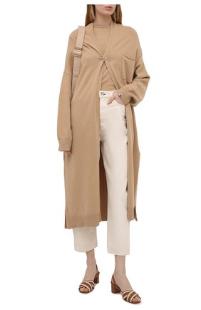 Женские кожаные босоножки SANTONI светло-коричневого цвета, арт. WHIQ59346HA1T0I0C50 | Фото 2