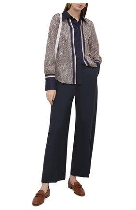 Женские кожаные лоферы SANTONI коричневого цвета, арт. WUSF59439HAFTSZAC31 | Фото 2
