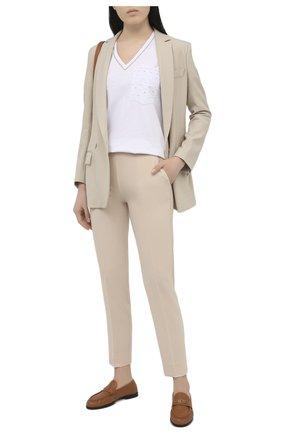 Женские брюки D.EXTERIOR бежевого цвета, арт. 52904   Фото 2