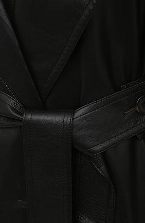 Женский плащ из экокожи NANUSHKA черного цвета, арт. AMAL_BLACK_VEGAN LEATHER   Фото 5