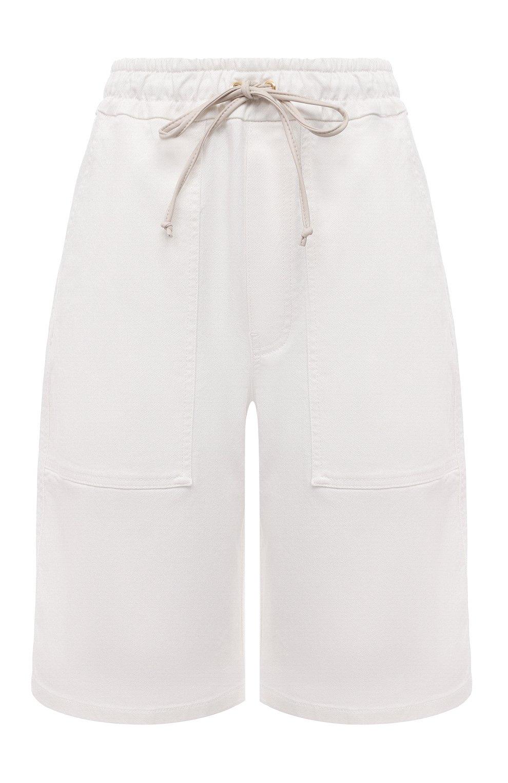 Женские хлопковые шорты NANUSHKA белого цвета, арт. HADI_WHITE_C0MF0RT STRETCH DENIM   Фото 1