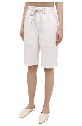Женские хлопковые шорты NANUSHKA белого цвета, арт. HADI_WHITE_C0MF0RT STRETCH DENIM   Фото 3