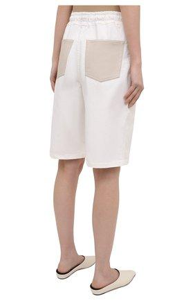 Женские хлопковые шорты NANUSHKA белого цвета, арт. HADI_WHITE_C0MF0RT STRETCH DENIM   Фото 4