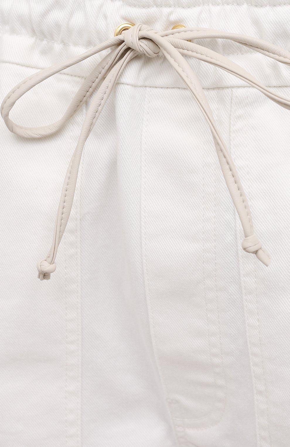 Женские хлопковые шорты NANUSHKA белого цвета, арт. HADI_WHITE_C0MF0RT STRETCH DENIM   Фото 5