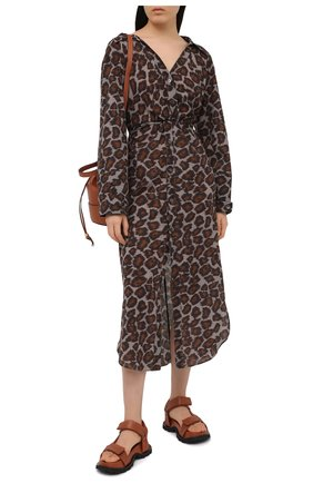 Женское хлопковое платье NANUSHKA леопардового цвета, арт. AYSE_CRAY0N 0CEL0T_C0TT0N V0ILE | Фото 2