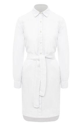 Женское льняное платье 120% LINO белого цвета, арт. T0W49AZ/0115/000 | Фото 1
