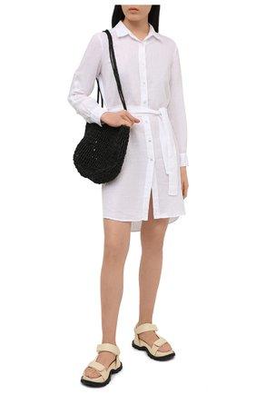 Женское льняное платье 120% LINO белого цвета, арт. T0W49AZ/0115/000 | Фото 2