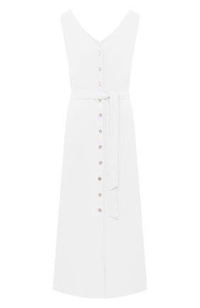 Женское льняное платье 120% LINO белого цвета, арт. T0W495Q/F753/000 | Фото 1