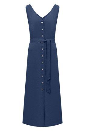 Женское льняное платье 120% LINO синего цвета, арт. T0W495Q/F753/000 | Фото 1