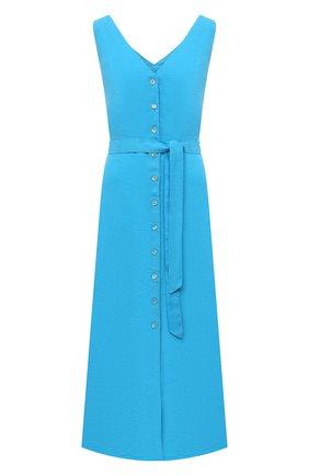 Женское льняное платье 120% LINO голубого цвета, арт. T0W495Q/F753/000 | Фото 1