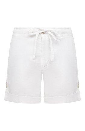 Женские льняные шорты 120% LINO белого цвета, арт. T0W2794/F753/000 | Фото 1