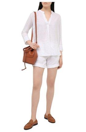 Женские льняные шорты 120% LINO белого цвета, арт. T0W2794/F753/000 | Фото 2