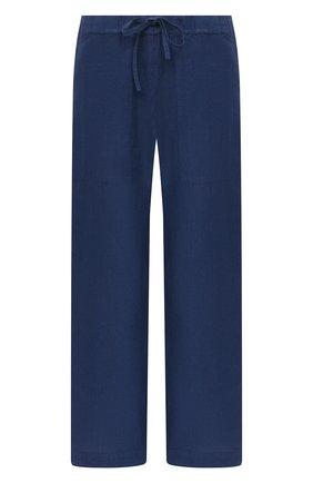 Женские льняные брюки 120% LINO синего цвета, арт. T0W2443/F753/000 | Фото 1