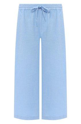 Женские льняные брюки 120% LINO голубого цвета, арт. T0W2325/F753/000 | Фото 1