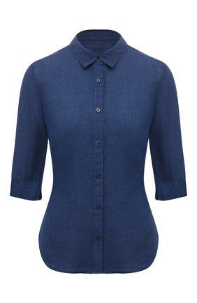 Женская льняная рубашка 120% LINO синего цвета, арт. T0W1780/0115/000 | Фото 1