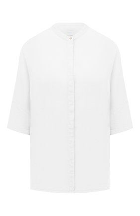 Женская льняная рубашка 120% LINO белого цвета, арт. T0W1293/D703/000 | Фото 1