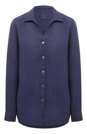 Женская льняная рубашка 120% LINO синего цвета, арт. T0W1172/B317/S00 | Фото 1